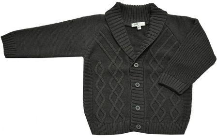 EKO chlapčenský sveter 98 tmavosivá