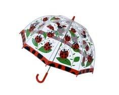 Blooming Brollies Dětský průhledný holový deštník Ladybird Umbrella SBULB