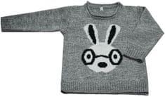EKO dievčenský sveter so zajačikom