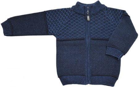 EKO chlapčenský sveter na zips 116 tmavomodrá