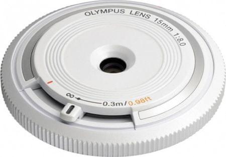 Olympus 15 mm M.Zuiko Digital f/8,0, biały