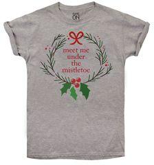Christmas T-shirt T-shirt damski Mistletoe