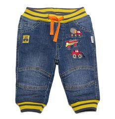 Gelati chłopięce spodnie jeansowe z autami