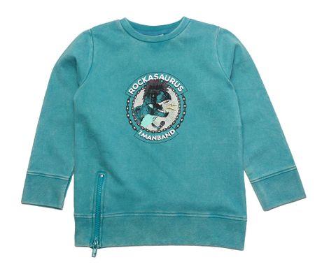 Gelati fiú pulóver dinoszaurusszal 116 türkizkék