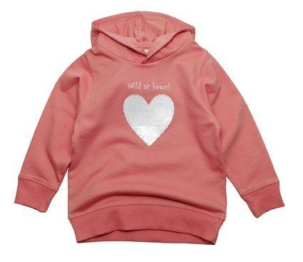 Gelati dekliška majica z motivom srca, 116, roza