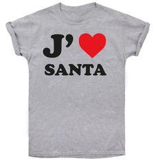 Christmas T-shirt T-shirt damski I love Santa