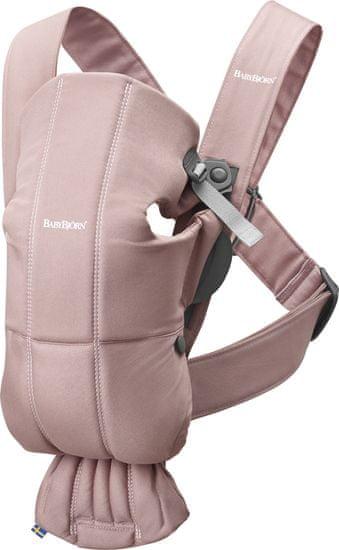 Babybjörn nosítko MINI Dusty Pink cotton - rozbaleno