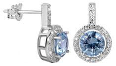 Silver Cat Bájos fülbevalók világoskék kristályokkal SC295 ezüst 925/1000