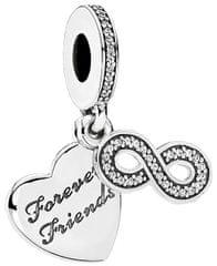 Pandora Obesek za vedno prijatelji 791948CZ srebro 925/1000
