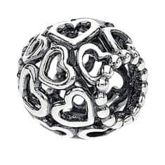 Pandora Srebrna srčna kroglica 790964 srebro 925/1000