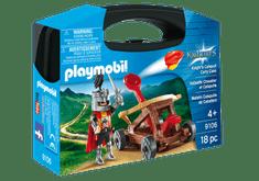 Playmobil kovček vitez s katapultom, 9106