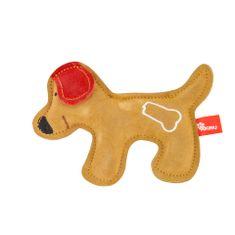 Akinu hračka psík PREMIUM koža hnedý