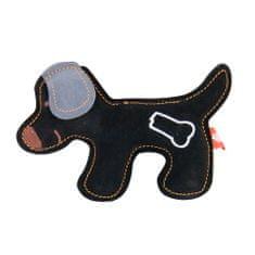 Akinu hračka psík PREMIUM koža čierna