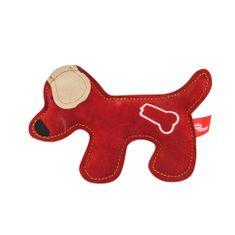 Akinu hračka psík PREMIUM koža červený