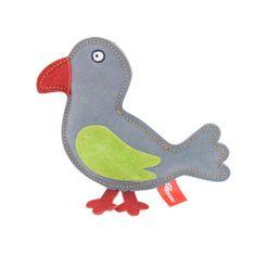 Akinu PREMIUM madár alakú kutyajáték szürke bőrből