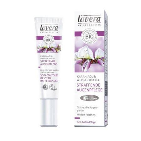 Lavera BIO fehér tea & Karanja olaj bőrfeszesítő szemkörnyékápoló krém (Firming Eye Cream) 15 ml