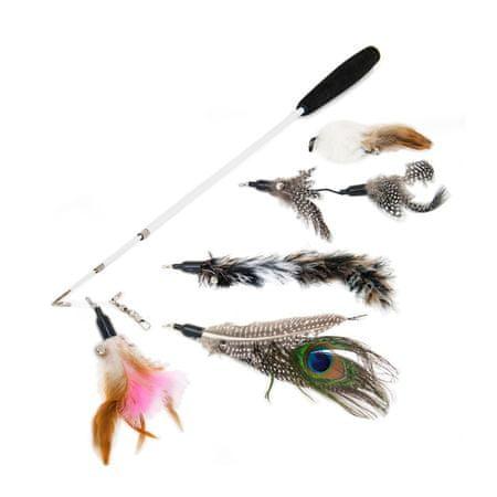 Akinu Horgászbot tollakkal, macskáknak, készlet IV.