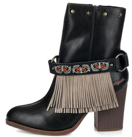 Desigual dámská kotníčková obuv Folk Gipsy Patch 38 černá