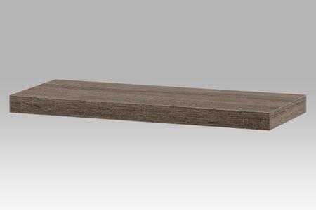 Nástěnná polička KALEB 60cm, dub sonoma tmavý