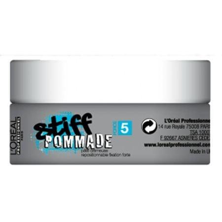 Loreal Professionnel Stiff Pommade hajformázó wax a természetes megjelenésért 75 ml