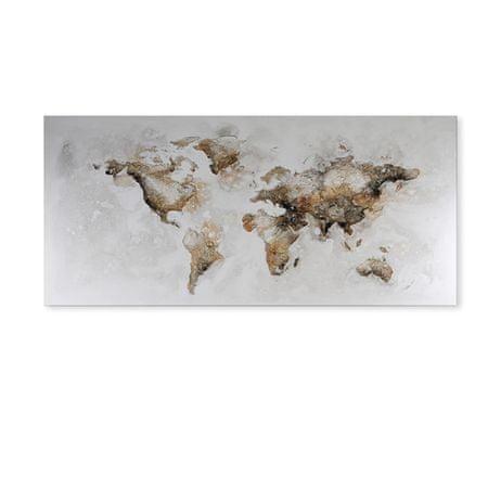 Papillon Obraz World map 150 cm, olej na plátně