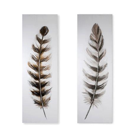 Papillon Obraz Feather 150 cm, olej na plátně, sada 2 ks