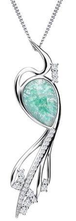 Preciosa Ines Matrix türkiz színű elegáns nyaklánc 6109 24 ezüst 925/1000