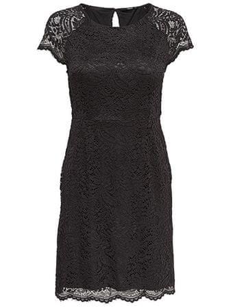 ONLY Dámské šaty Shira Lace Dress Noos Wvn Black (Velikost 34)