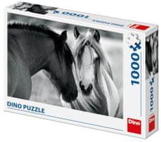 Dino sestavljanka črno-beli konj, 1000 delov