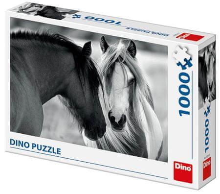 DINO slagalica crn-bijeli konj, 1000 dijelova