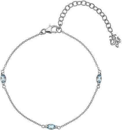 Hot Diamonds Srebrna zapestnica za rojene decembra Anais modra Topaz AB012 srebro 925/1000