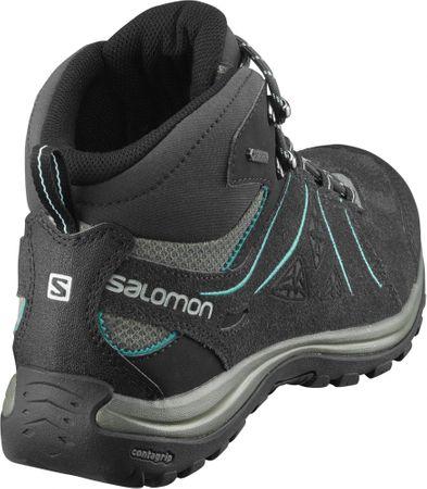 Salomon buty trekkingowe damskie za kostkę Ellipse 2 Mid Ltr Gtx W PhantomCastor GrayAruba Blue 36.7