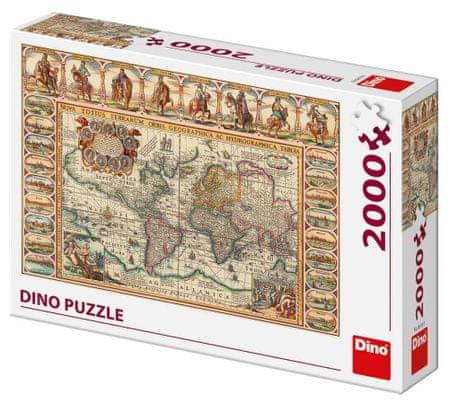 DINO slagalica Povijesna karta svijeta, 2000 dijelova