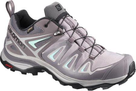 Salomon ženski čevlji X Ultra 3 Gtx® W Magnet/Shark/Beach Glass, 40.0