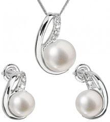 Evolution Group Set srebrnega nakita s pravimi biseri Pavona 29042.1 (uhani, veriga, obesek) srebro 925/1000