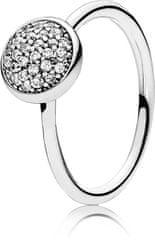 Pandora Strieborný trblietavý prsteň 191009CZ striebro 925/1000