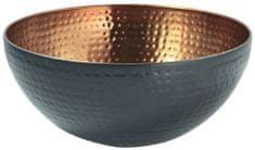 Toro Nerezová miska, průměr 19 cm, černá/měď