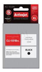ActiveJet črnilo Canon CLI-551BkXL, črno