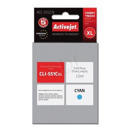 ActiveJet črnilo Canon CLI-551CXL, cyan