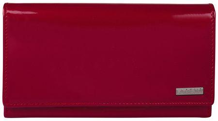 Lagen Portfel skórzany damski 50042 czerwony