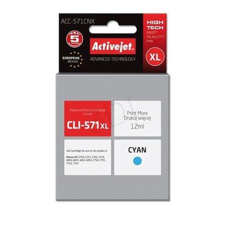 ActiveJet črnilo Canon CLI-571C XL, cyan
