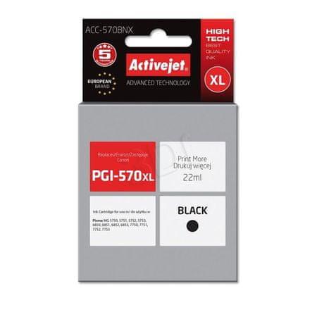 ActiveJet črnilo Canon PGI-570Bk, črno
