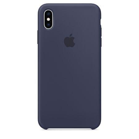 Apple ovitek za iPhone XS Max, silikonski, temno moder