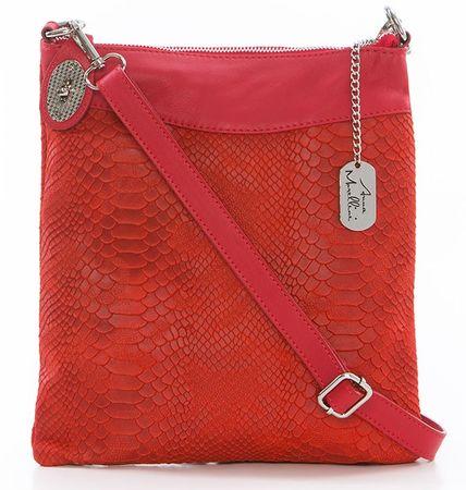 2ec7ee2783 Anna Morellini červená crossbody kabelka