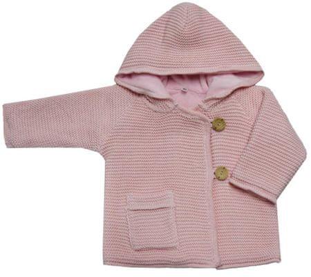 EKO dívčí svetr s knoflíky 80 světle růžová