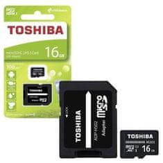 TOSHIBA memorijska kartica Micro SDHC M203, 16 GB + adapter SD