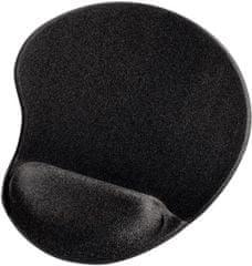 HAMA ergonomická podložka pod myš, černá (54777)