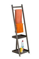 BHM Germany Věšák na ručníky Hokaido, 132 cm, tmavě hnědá