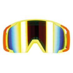 Motocyklové crossové okuliare S-line Scrub MX žltá-červená-žltá