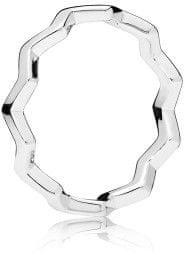Pandora Eleganten srebrni prstan 197752 (Vezje 50 mm) srebro 925/1000